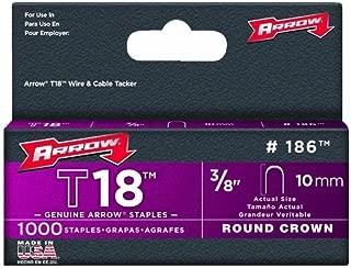 Arrow Fastener 186 2 Pack 3/8in. T18 Genuine Staple 1,000/Box