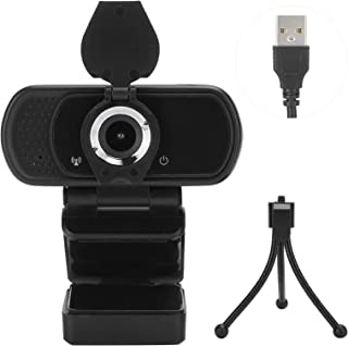 قم بتوصيل وتشغيل كاميرا ويب بدقة 1080 بكسل ومحرك أقراص USB - كاميرا ويب مجانية وتوافق صغير لتدريس البث المباشر عبر الإنترنت