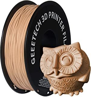 GEEETECH 1.75mm PLA 3D Printer Filament, 1kg Spool, Upgrade Tidy Winding Tangle-Free, Dimensional Accuracy +/- 0.03mm, (Sand)