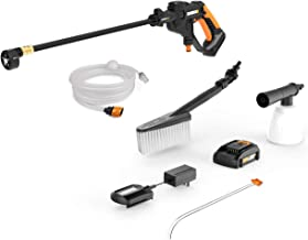 WORX WG625.2 Hydroshot 20V PowerShare 2.0 Ah 320 PSI Cordless Portable Power Cleaner with Accessories