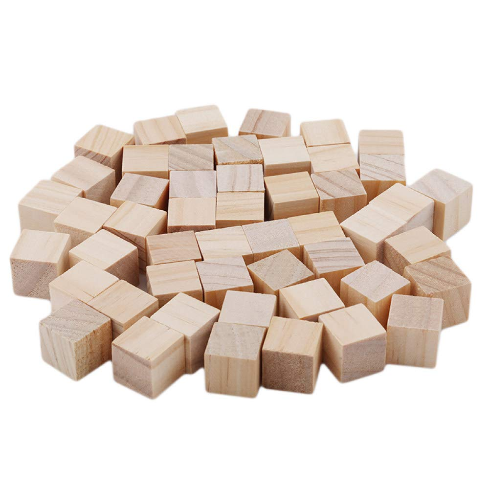 AGLKH Bloques para niños Cubos de Madera de Color Natural Bloques de Jenga Pila de Habilidades Juguetes para Adultos Juegos de Torre se derrumba Regalos para niños 1 Juego, A (1.5cm 50pcs):