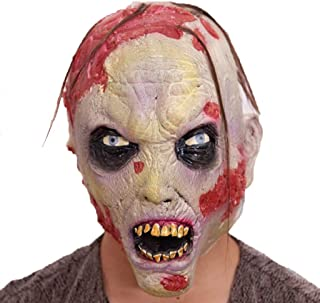 LUHUAISH AU Halloween mask Scary Male Adult Masquerade Milk Zombie