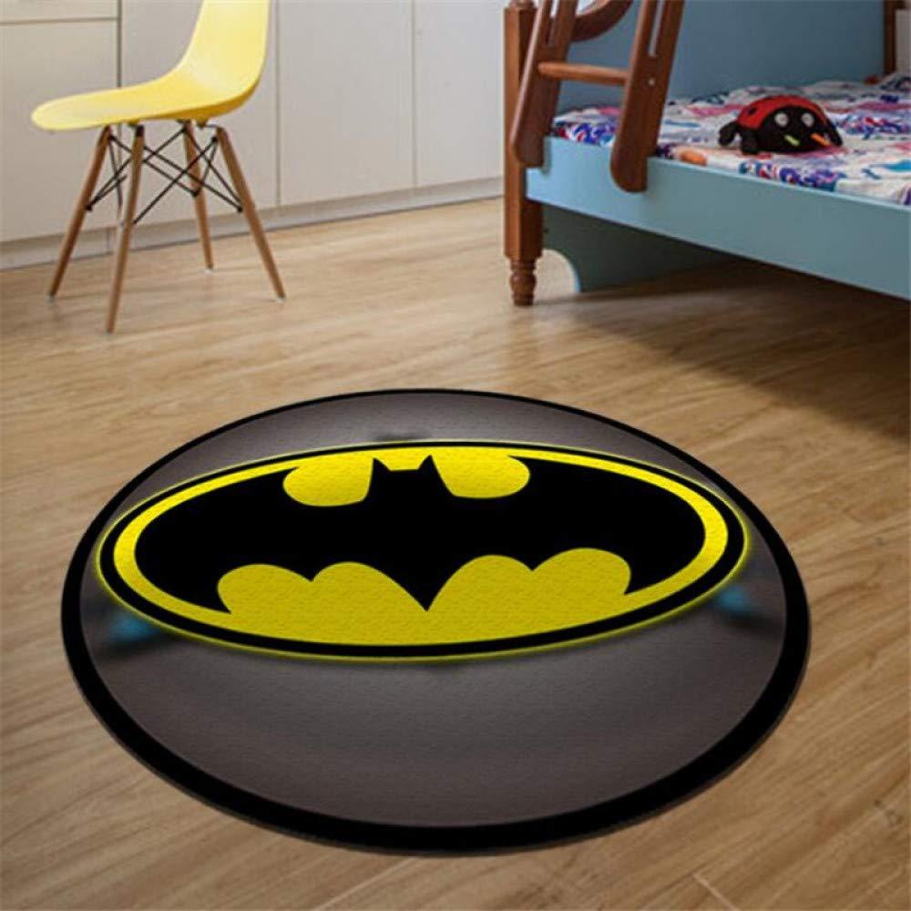 Fei Fei Alfombra Redonda Batman Superman Impreso Alfombras Suaves ...