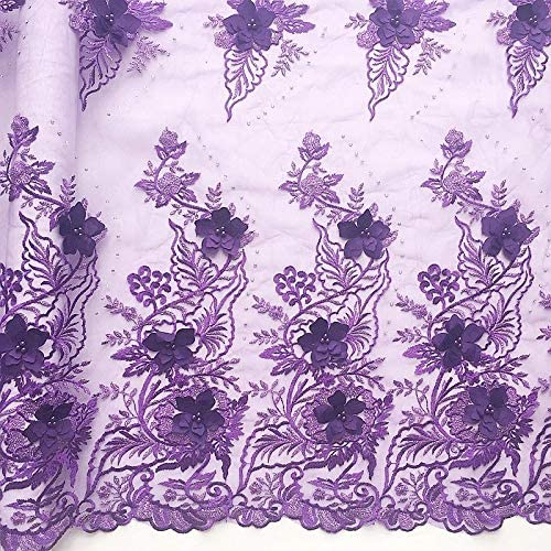 African velvet lace fabric _image3