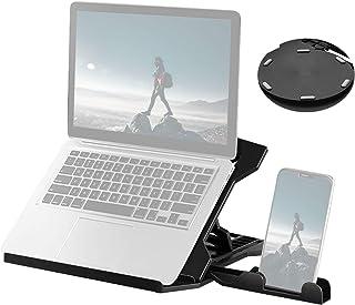 Moniel Suporte para laptop portátil Riser Suporte para laptop de mesa dobrável com 8 níveis de ajuste de altura Suporte er...
