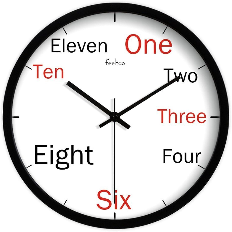 promocionales de incentivo GAYY Decoración de la sala de clase Relojes Relojes Relojes   Vogue Salón Dormitorio Reloj   Reloj de parojo,C,12 pulgadas  forma única