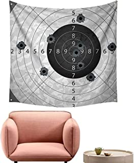 alsohome Art Tapestry Bohemian Wall Decor for Bedroomgun Bullet HOL Paper Target Weap Danger Violence Themed Image 70
