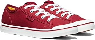 KEEN Women's Elsa Lite Casual Trainer Sneakers, Red/White, 7