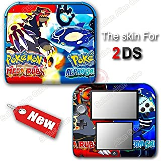 Pokemon Omega Ruby And Alpha Sapphire SKIN STICKER DECAL COVER for Nintendo 2DS
