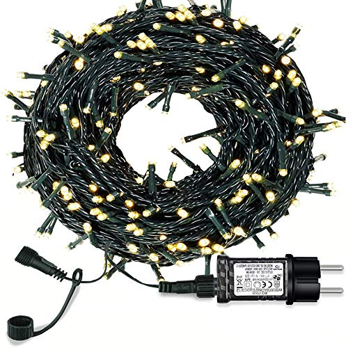 jieGorge 24V Outdoor 105FT 300 LEDs Waterproof Batteries Home Decoration Parties Weddings, Home Decor for Easter Day (A)