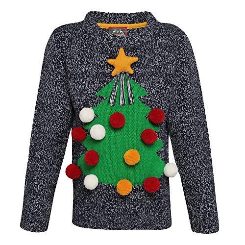 CHRISTMASSHOP Christmas Shop - Jersey navideño Infantil Tridimensional par niños niñas