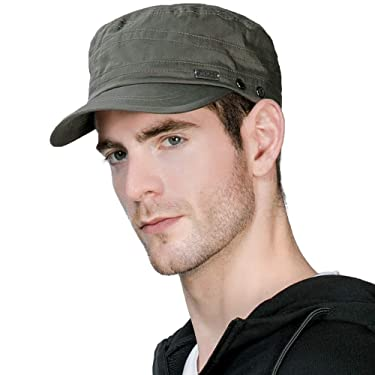 Jeff & Aimy Unisex Distressed Army Military Baseball Cap Cadet Hat Washed Cotton Canavas