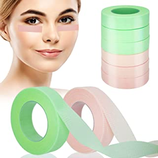 Eyelash Extension Tape Lash Extension Tape Breathable Micropore Tape for Eyelash Extension Adhesive Green Pink 6 Rolls