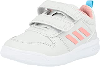 adidas Tensaur I Grey/Glow Pink Leather Infant Trainers Shoes