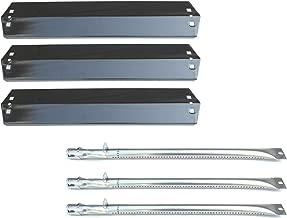 Direct store Parts Kit DG151 Replacement Chargriller 3001,3008,3030,4000,5050,5252; King Griller 3008,5252 Gas Grill Burner & Heat Plate (SS Burner + Porcelain Steel Heat Plate)