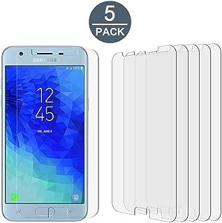[5 Pack] Tonvizern Compatible for Samsung Galaxy J3V 2018 (3rd Gen) / Galaxy J3 V 2018 (3rd Generation) Verizon High Definition Screen Protector Film [Not Glass]