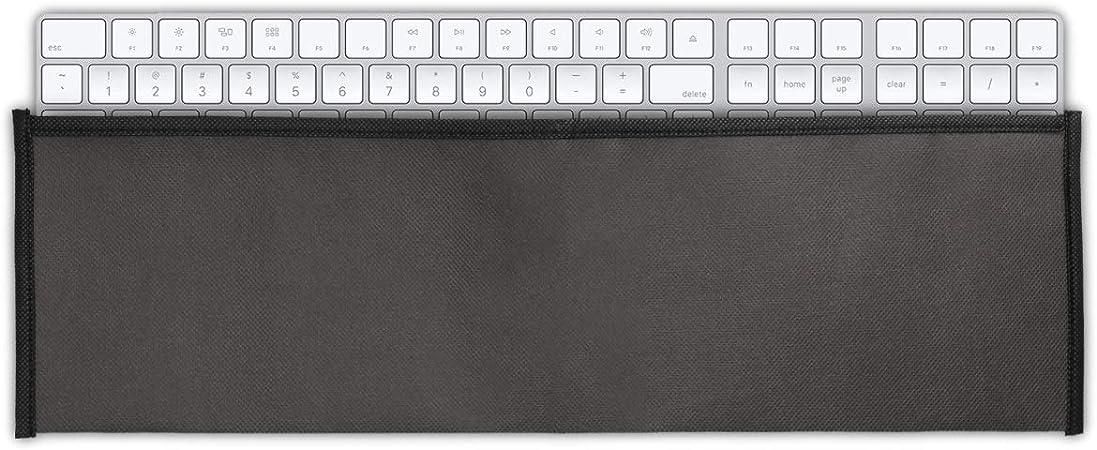 kwmobile Funda Protectora para Teclado Apple Magic Keyboard con Teclado numérico - Cubierta para el Polvo o derrames en Gris Oscuro