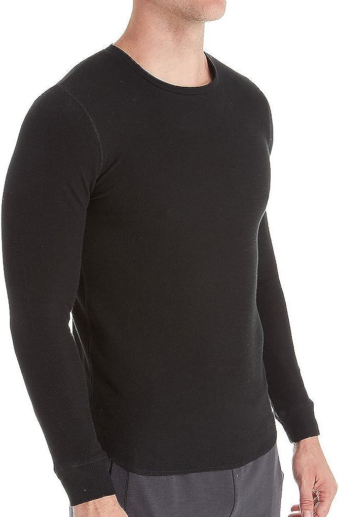 Bread Boxers Men's Long Sleeve Thermal Crew Shirt (BNBUS336) XL/Black