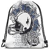 Roman Lin String Gym Backpack Casual Drawstring Bag Léger pour Hommes Et Femmes Casque Aquarelle Électrique