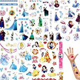 MEZHEN Tattoo Kinder Temporäre Tattoos Prinzessin Party Deko Kindertattoos Sticker Eisprinzessin Temporary Tattoo Mitgebsel Kindergeburtstag Partydekoration Mädchen 16 Stück