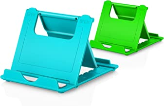 """Cell Phone Stands, 2-Pack Cellphone Holder (4-7.9"""") Foldable Stands Multi-Angle for Desk..."""
