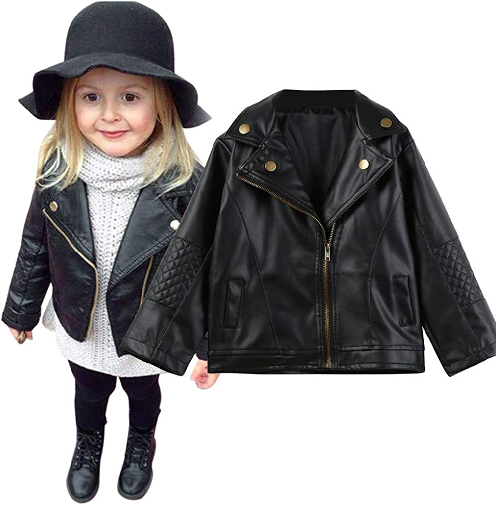 Toddler Baby Boy Girl Cute Leather New life Tampa Mall Autu Motorcycle Jackets Faux