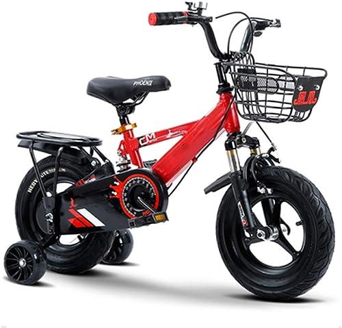 hasta 42% de descuento GYJ Bicicleta de Bicicleta de Estilo Libre Infantil de de de 14 Pulgadas, Niños Niños niñas Niños Bicicleta para Niños con Ruedas de Entrenamiento y Frenos de Mano, ensamblados  tienda en linea