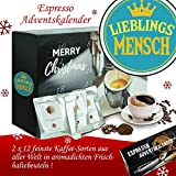 Lieblingsmensch - Advent Kalender Espresso - Kalender Advent Frauen Kalender Advent Männer Kalender Advent Kaffeebohnen Adventskalender Espresso Adventskalender Espresso