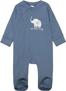 PETIT BATEAU Jungen Schlafanzug Pyjama allover Eisbär blau weiß Gr.98-146