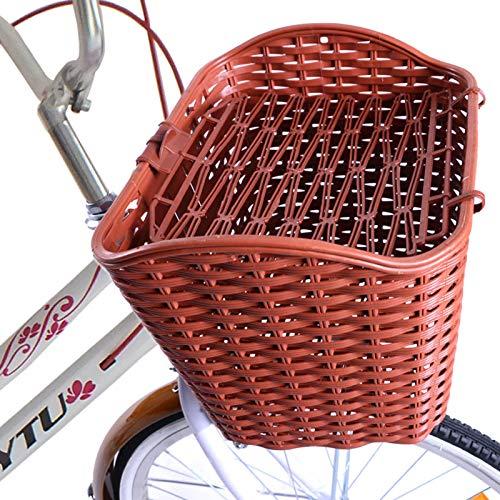 JTYX Cesta de Bicicleta, Cesta de Bicicleta para Guardar Perros, de plástico Reforzado con Tapa antirrobo para enganchar al Manillar