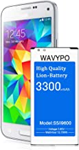 (Upgraded) Galaxy S5 Battery, Wavypo 3300mAh Replacement Battery for Samsung Galaxy S5 I9600, G900A, G900P, G900V, G900T, G900F, G900H, G900R4, S5 Spare Battery [36 Months Warranty]