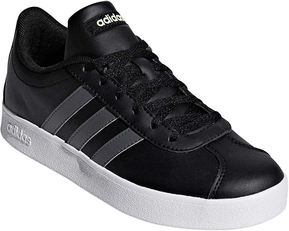 adidas Boys VL Court 2-0 Core Black/Grey Five/Hi-Res Yellow