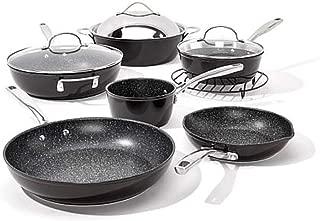Curtis Stone Dura-Pan Nonstick 10-piece Chef's Cookware Set - Black