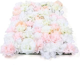 Kaibrite Panneaux muraux de roses artificielles en soie pour photographie - Fond de fleurs artificielles - Panneaux de ros...