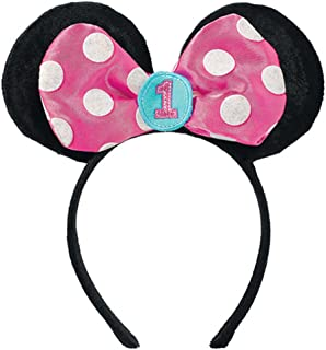 Minnie Mouse 1st Birthday Fun To Be One Deluxe Headband