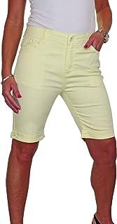 ICE (1515) Jean Shorts Tipo Extensible Chino grandi dimensioni e Brilliant Blanc