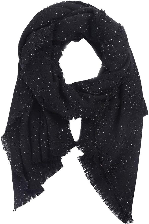 WXL Scarf 200cm×70cm Autumn Winter Woman Large Size Thin Soft Warm Wrap Shawl V (color   Black)