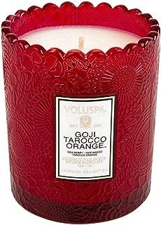 Voluspa ボルスパ ジャポニカ リミテッド スカラップグラスキャンドル  ゴージ&タロッコオレンジ GOJI & TAROCCO ORANGE JAPONICA Limited SCALLOPED EDGE Glass Candle