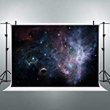 FLASIY 7x5FT Flashing Starry Sky Photography Backdrop Space Galaxy Stars Photo Background for Children Party YouTube Photo Studio Props GEAY007