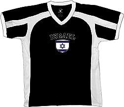 Amdesco Israel Flag and Shield Men's Soccer Style Sport T-Shirt