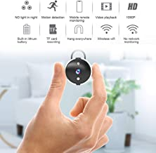 Mini Hidden Spy Camera Wireless Camera HD 1080P Camera Portable Home Security Cameras with Hanger Covert Small Indoor Video Recorder Motion Detection Night Vision Remote View with Cell Phone