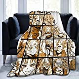 Marrh Himiko Toga Flannel Blanket Super Soft Hypoallergenic Plush Bed Couch Living Room 50'X40'for Kid