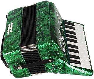 Akordeon fortepianowy, drewno klonowe 22 klawisze 8 klawiatura basowa akordeon instrument muzyczny zabawka z paskami rękaw...