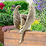 🌻【Angel statue】: hand-casted with durable resin material. We are angel statue pray for your interior home decoration. 🌻 【Redemption Angel Sculpture】: Redemption Angel Sculpture: The decoration of this angel statue can provide the perfect decoration f...