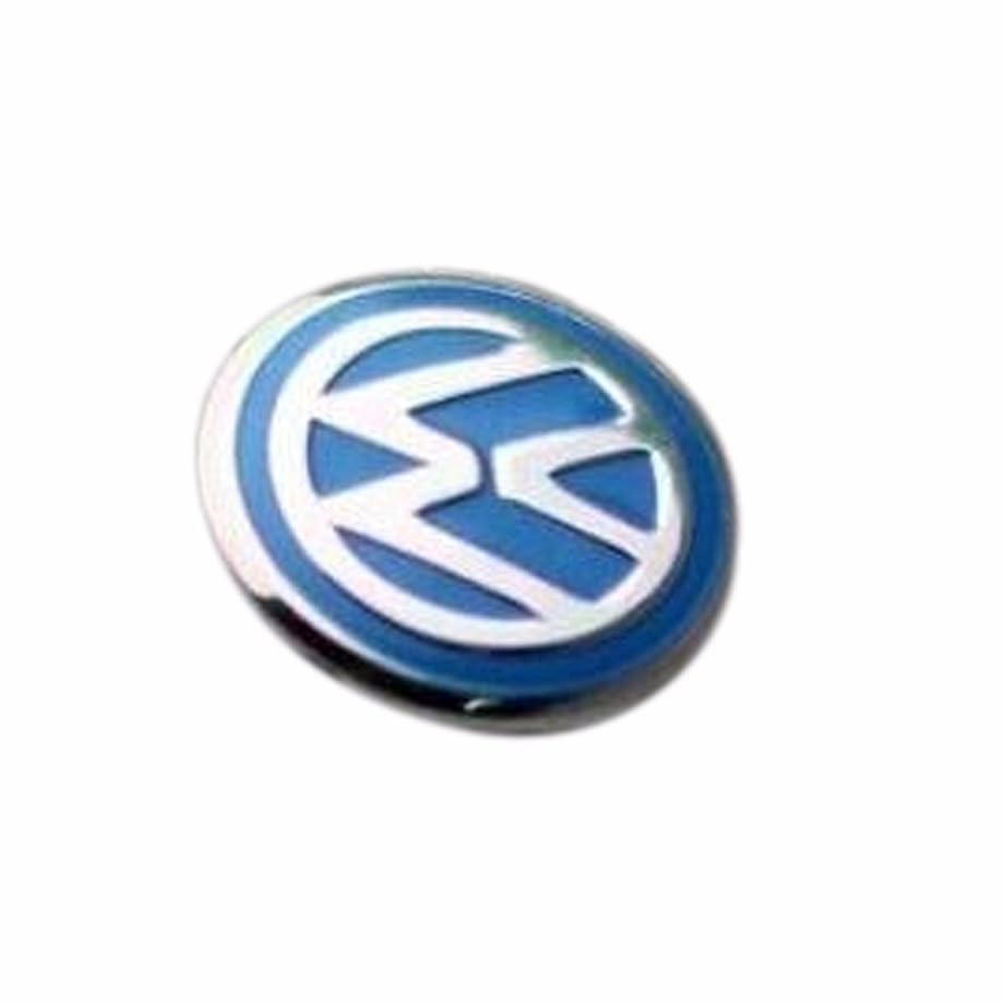 ESC EDP525FBA 2 Pieces Car Key Logo Auto Emblems Dia:1.4cm Car Styling Sticker, Blue Color for VW Golf Rabbit Bora Polo Touran Tiguan Jetta Passat