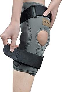 BenKen 両足セット膝サポーター ニーパッド 膝あて 膝保護 膝固定 リハビリ 筋肉保護 損傷回復 滑り止め 怪我防止 バイク 自転車 山登り 膝をつく 男女共通 左右兼用