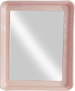 Confidence Big Frame Wall Mirror for Washbasin Light Pink 30 Gram Pack of 1