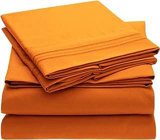 orange queen sheets set