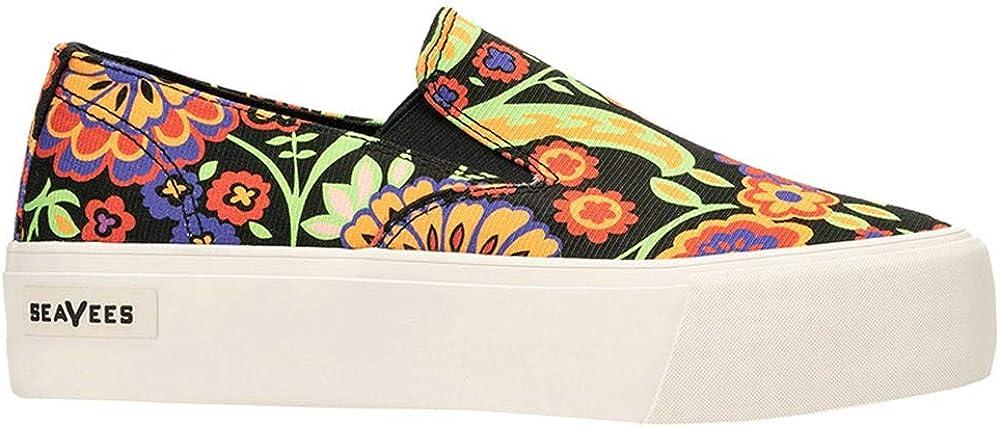 SeaVees Womens Baja Platform Liberty Paisley Platform Sneakers Shoes Casual - Black - Size 8.5 B