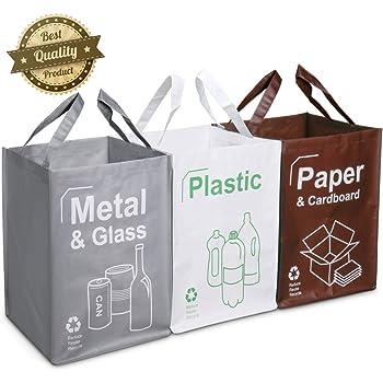 Opret Cubo Basura Reciclaje 3 Pack Bolsas de Reciclaje Separadas ...